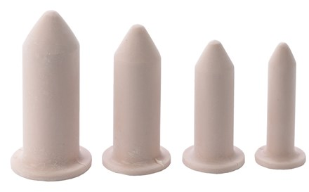Row of Milex Vaginal-Rectal Silicone Dilators, lined up from large to small