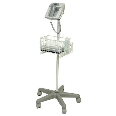 Full-view of Summit Doppler LifeDop 350 Series system/workstation with wheels