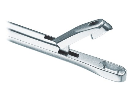 Close-up of tip of Euro-Med Tischler-Morgan Classic Biopsy Punch stainless steel tool